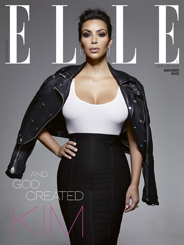 Kim Kardashian lands three covers for Elle