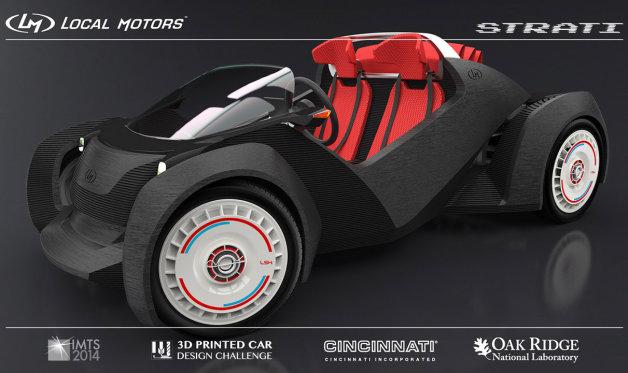 local motors strati 3d printed car
