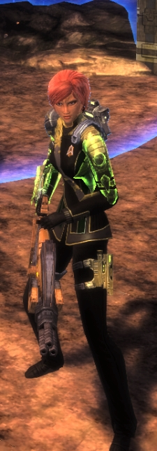 I'd really appreciate it if my Cardassian captain were able to make technology that was reliable but not terribly inspired or functional in a macro sense, but I still can't technically make her an actual Cardassian at this point.  Baby steps.