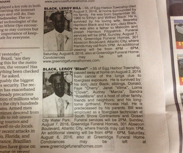 New Jersey Man Has Competing Obituaries Posted In Newspaper By Wife And Girlfriend