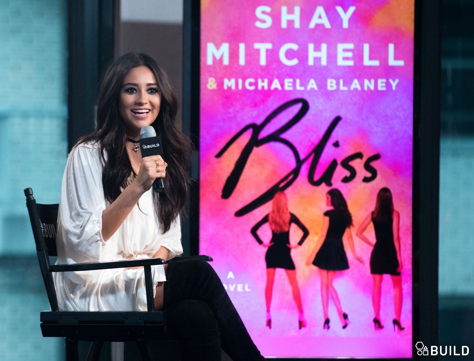 Shay Mitchell visits AOL Hq for Build on October 5, 2015 in New York. Photos by Noam Galai