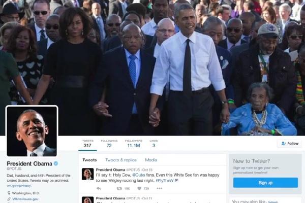フォロワー数1100万を誇るオバマ大統領のツイッターアカウント、退任後はどうなる?