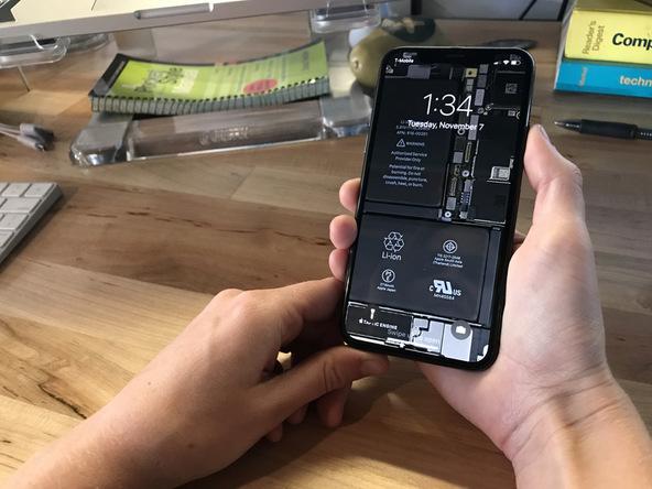 iFixIt spendiert dem iPhone X Wallpaper der Innereien