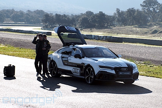 Riding in Audi's 150MPH self-driving RS 7, the anti-Google car