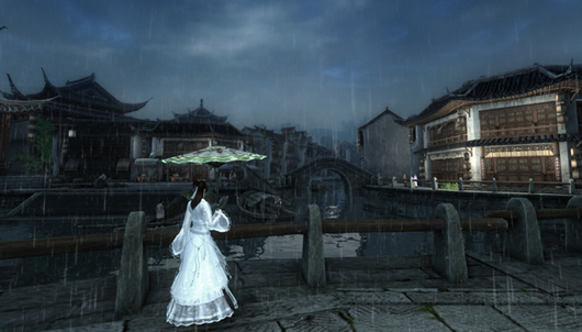 It's raining in Age of Wushu