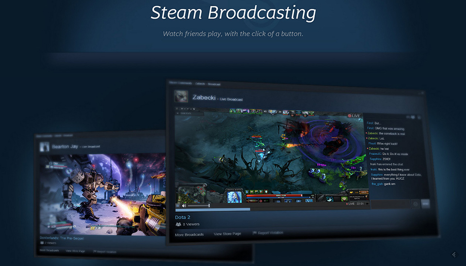 Steam ready to take on Twitch with new game Broadcasting feature