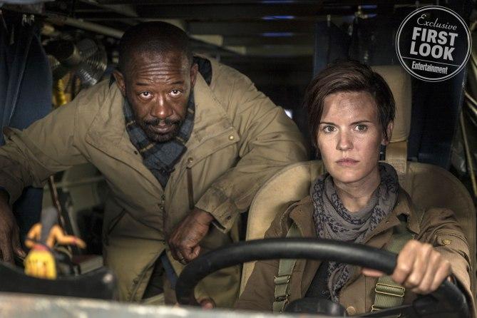 Fear The Walking Dead (2018)<br /><br /> Maggie Grace as Althea, Lennie James as Morgan Jones - Fear the Walking Dead _ Season 4, Episode 1 - Photo Credit: Richard Foreman, Jr/AMC