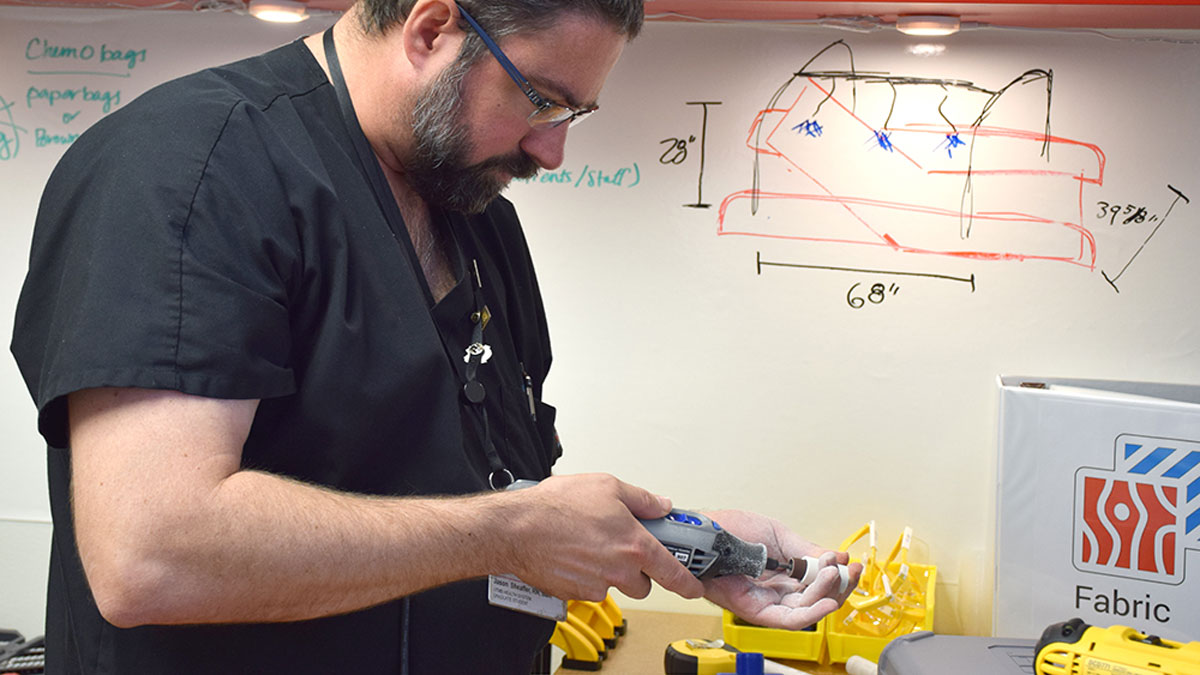 Hospital makerspace lets nurses build their own tools