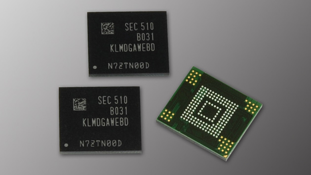 Samsung's 128GB eMMC flash storage