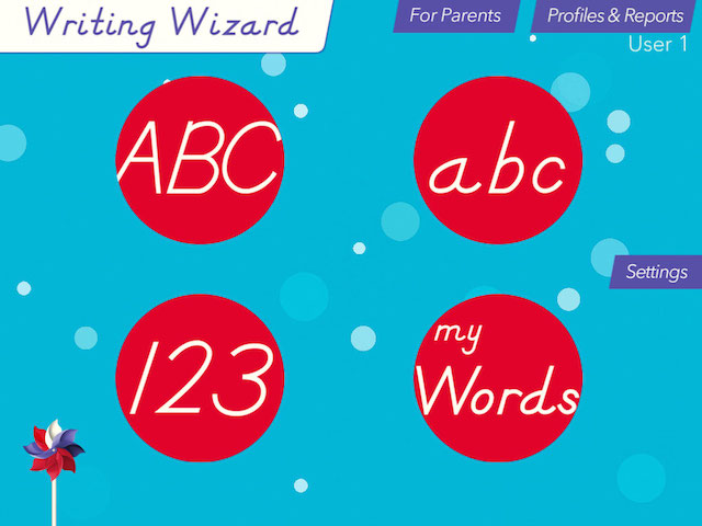 writing wizard start screen