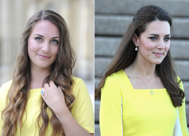 Solicitor gives up her job to become Kate Middleton lookalike