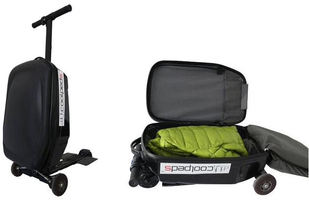 flughafenschreck rollkoffer mit elektroantrieb und trittbrett engadget deutschland. Black Bedroom Furniture Sets. Home Design Ideas