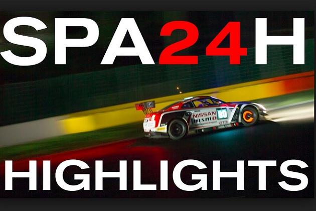 【ビデオ】暗闇で勝負の火花を散らす、スパ24時間レースの夜間走行映像