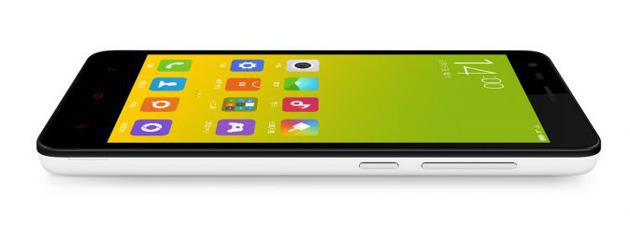 Xiaomi Redmi 2 on its side
