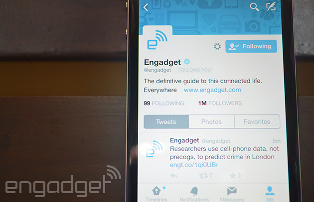 Twitter's iOS 8 upgrade brings a new look for profiles