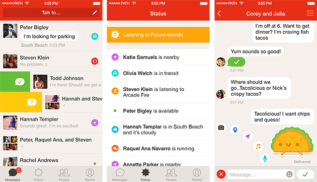 Path spins out dedicated messaging app that'll let you text businesses too