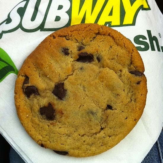 subway chocolate chip cookie