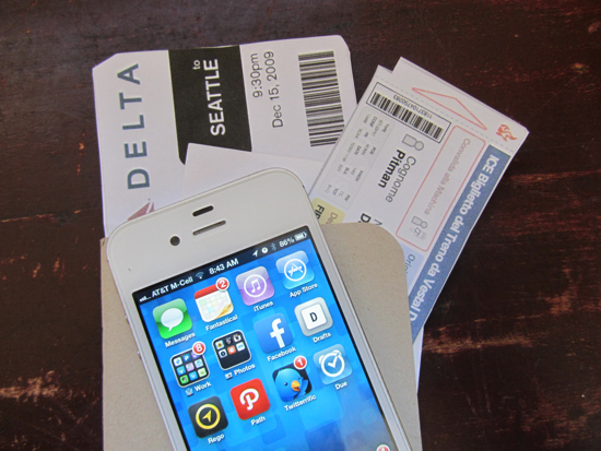 iPhone and tickets
