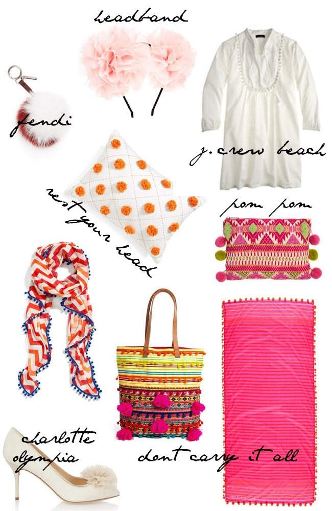 pom poms heart of chic trend