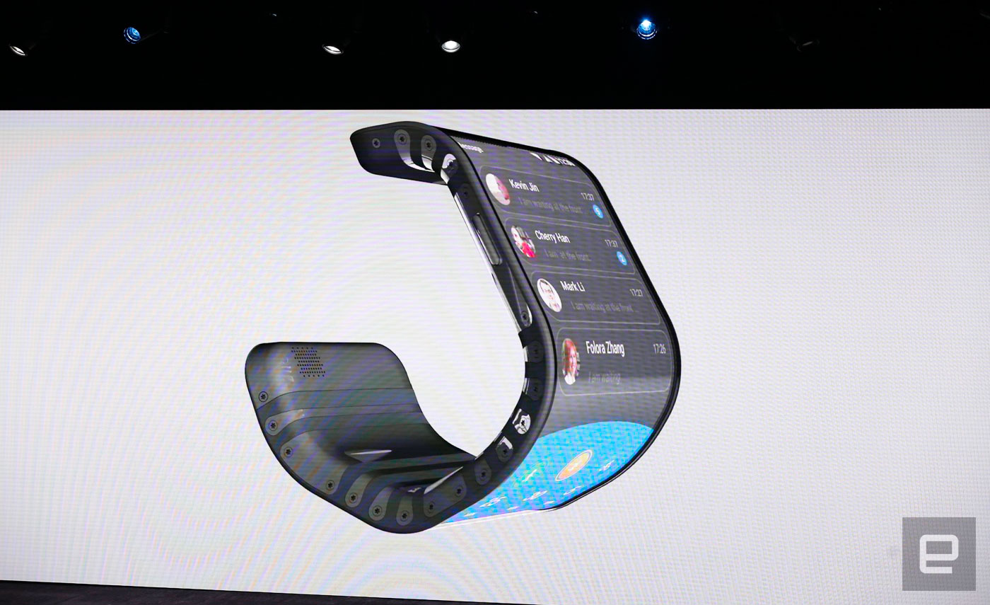 Lenovo gives a sneak peek at a phone that wraps around your wrist