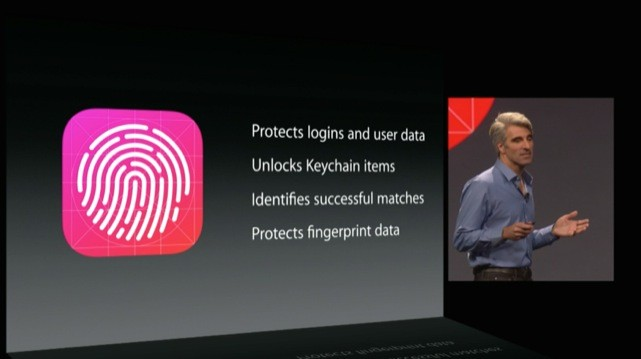 craig federighi shows off touch id in ios 8
