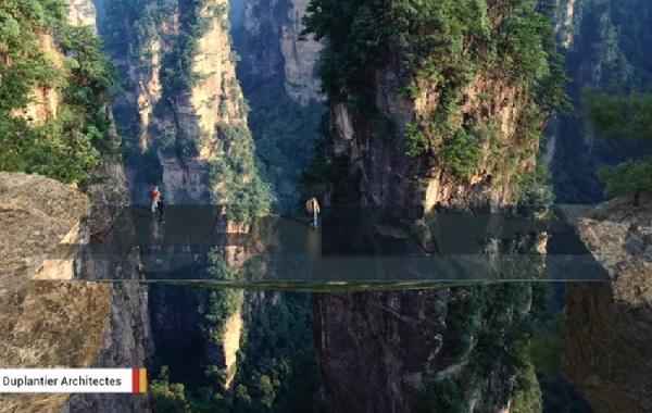 中国で今度は「空中を歩いているような橋」を架ける計画が明らかに