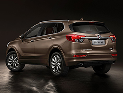 Buick Envision rear three-quarter view