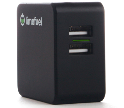 Limefuel Dual Port USB 4.8A Wall Charger