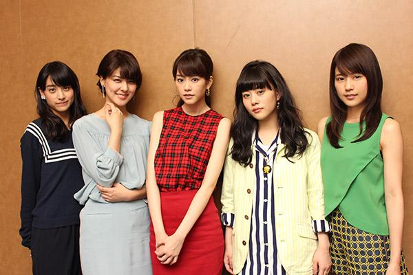 桐谷美玲・有村架純・山本美月ら『女子ーズ』に直撃、「コスチューム見て上がりました!」
