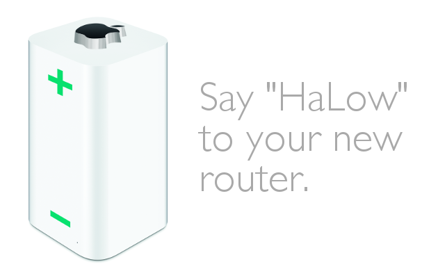 Mock up product image for Apple AirPort HaLow Router