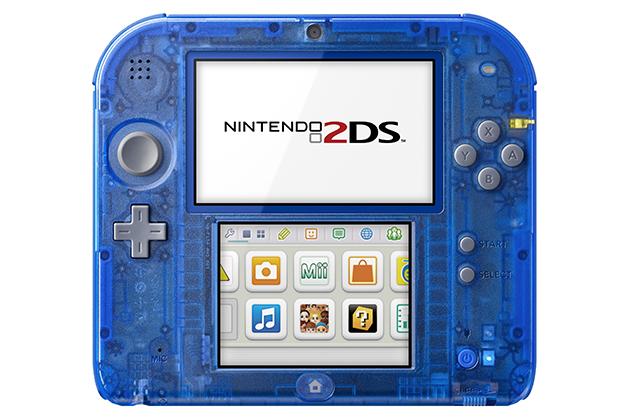 Nintendo 2DS handheld Crystal Blue