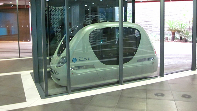 A podcar in Masdar City