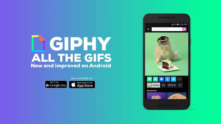 Ya puedes buscar y compartir GIFs con Giphy en tu Android