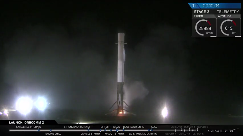 SpaceX's Falcon 9 rocket sticks the landing on its return