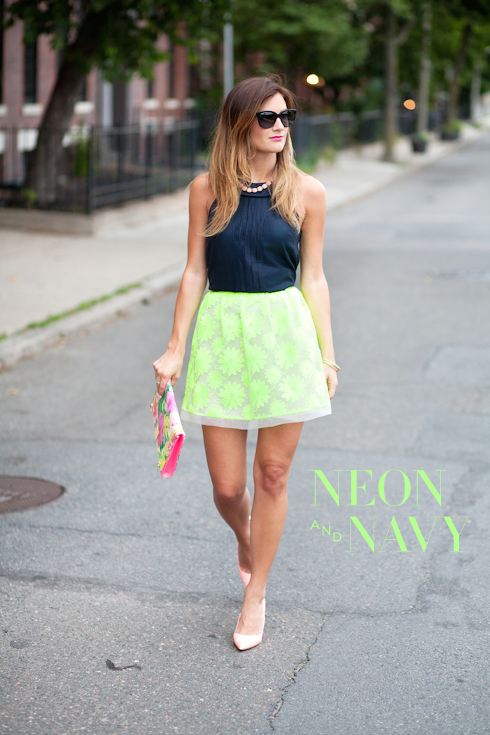 Add neon to your wardrobe for a serious pop of color