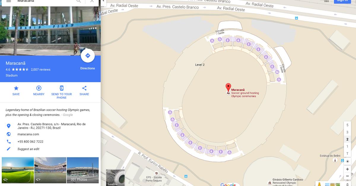 Google Maps takes you inside Rio de Janeiro's Olympic venues