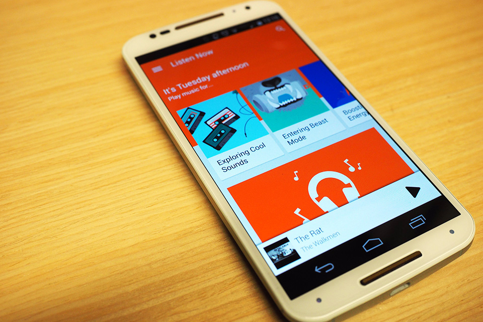 Google Play Music on a Moto X