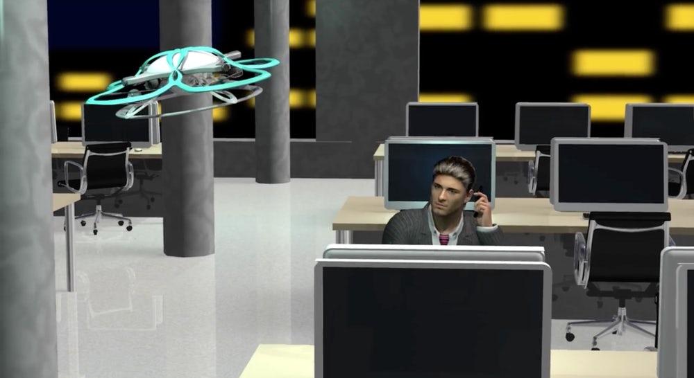 Japan: Drohne treibt Angestellte aus dem Büro