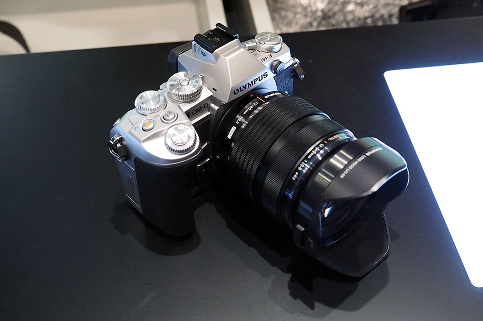 Olympus e m1 camera gets a silver hue and a slew of pro features