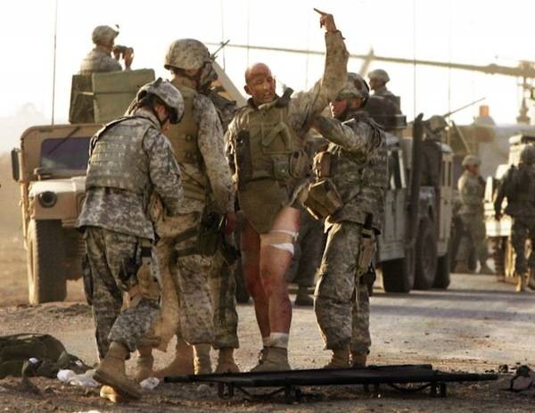 manliest photos on the internet, funny manly images, soldier flips off enemy