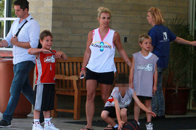 Britney Spears out and about with her cute sons Sean and Jayden