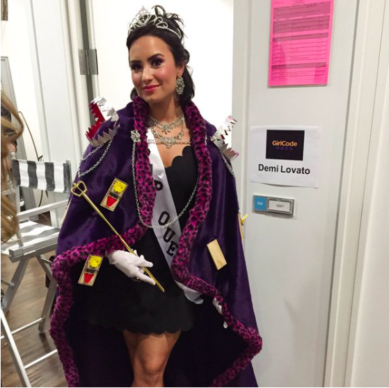 demi lovato trap queen costume