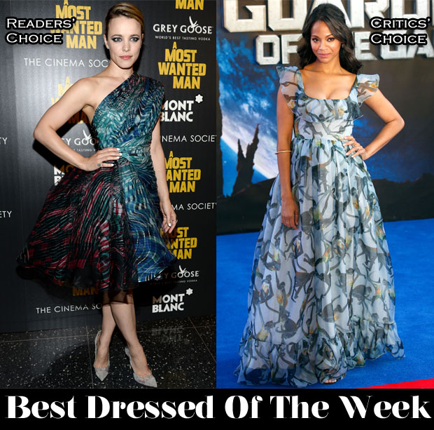 best dressed week zoe saldana rachel mcadams