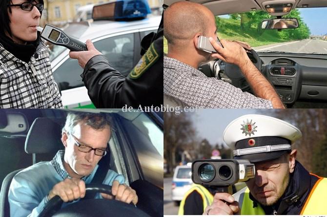 deutsche Autofahrer, fehler, fehlverhalten, sünde, verkehrssünde, Hitliste, verkehrssünder, Handy am steuer, telefonieren hinterm steuer,