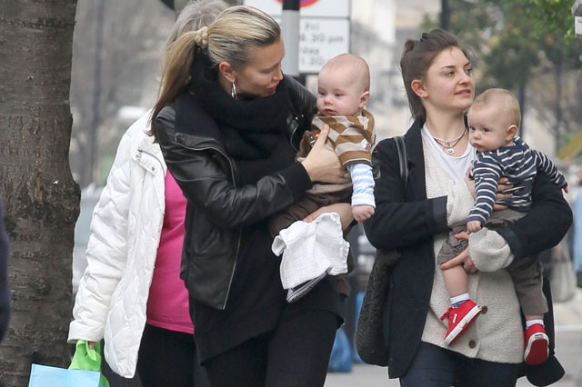 Mum Caprice out and about with sons Jett and Jax