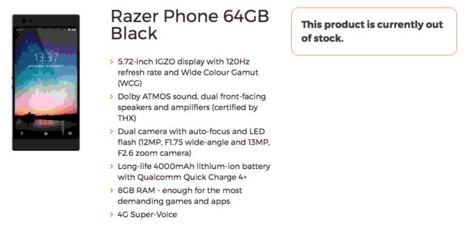 El Razer Phone se filtra: una pequeña bestia con pantalla a 120 Hz y 4.000 mAh