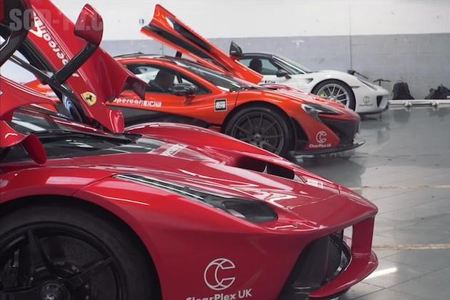 【ビデオ】フェラーリ「ラ フェラーリ」、マクラーレン「P1」、ポルシェ「918スパイダー」が夢のスピード対決!