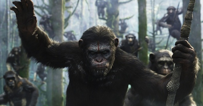 dawn of the planet of apes Weekend Box Office: Planet of the Apes Beats Out The Purge Sequel For Top Spot