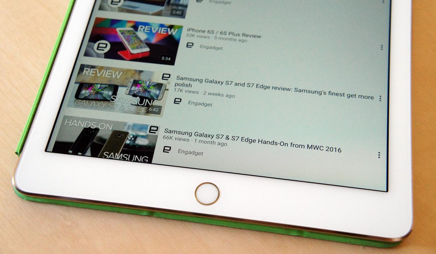 YouTube ya permite pantalla partida en el iPad