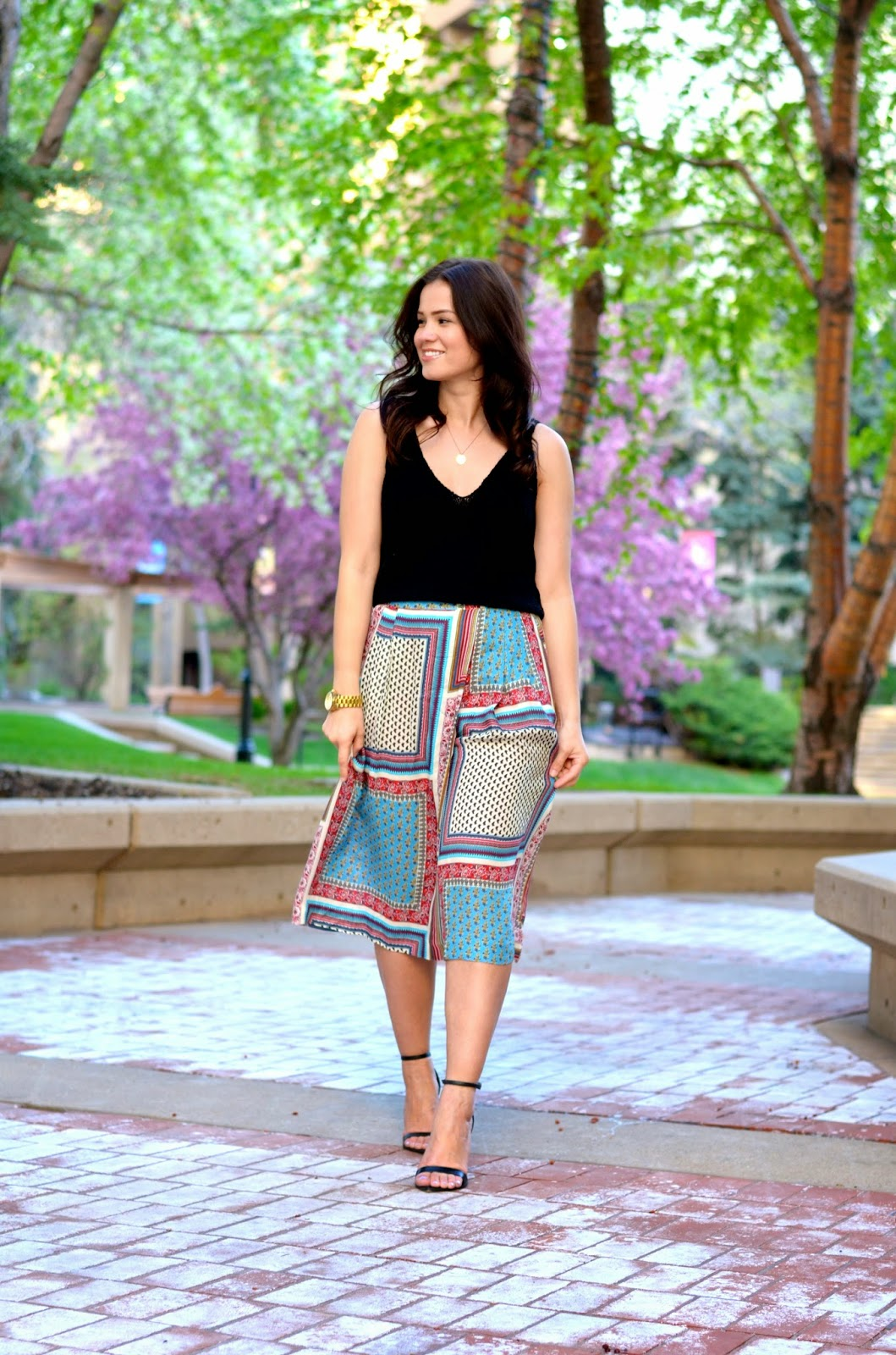 Street style tip of the day: Patterned culottes